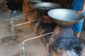 Wood-fired stills