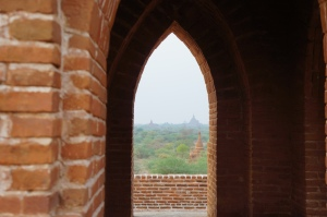 Bagan Temple Rooftop 1 view