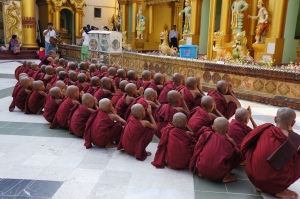 Children Young Monks at ShweDagon