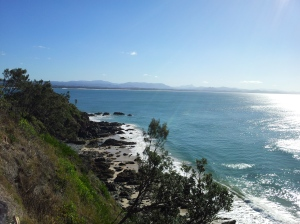 West ward view of Byron Bay from the cliff path
