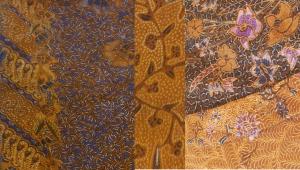 Grandma's hand-painted batiks